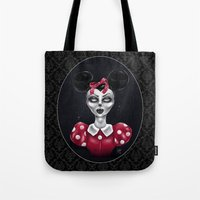 minnie Tote Bags featuring Minnie M. by M. Adeline Nef