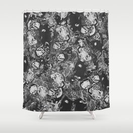 growl destruction 002 Shower Curtain