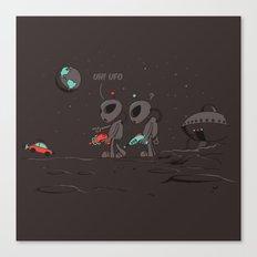 Uh UFO! Canvas Print