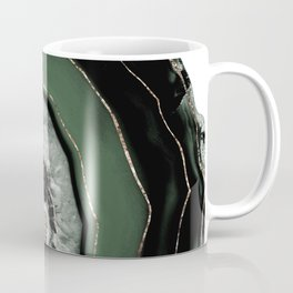 Green Black Agate with Gold Glitter #1 #gem #decor #art #society6 Art Coffee Mug