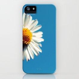 A Bright White Daisy under a Big Blue Sky iPhone Case