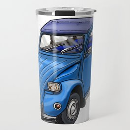 Blue 2CV Travel Mug