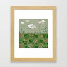 First greens Framed Art Print