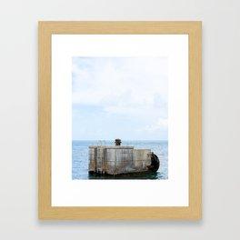 Driftwood Dock Framed Art Print