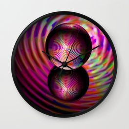 Circle of reds in the crystal ball Wall Clock