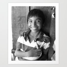 Smile for Me { WOLRD NICARAGUA } Art Print
