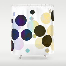 Dots in Chocolate and Vanilla Shower Curtain