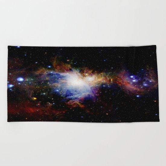 Orion NebulA Colorful Full Image Beach Towel
