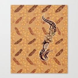 Polynesian Tribal Tiare Band Canvas Print