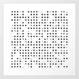 breakin' up dots Art Print