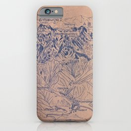 Annapurna and Dhaulagiri  Range iPhone Case