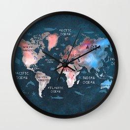 world map 45 Wall Clock
