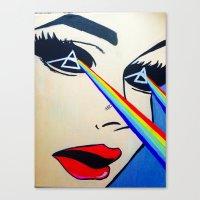 floyd Canvas Prints featuring Pink Floyd by Gabrielle Wall