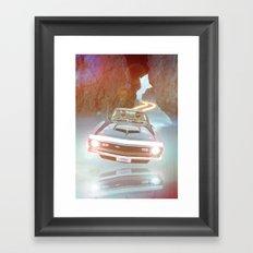 Art Print Daft Punk Flyin Car Framed Art Print