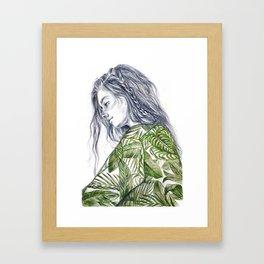 Tropical Palm Print Portrait Framed Art Print