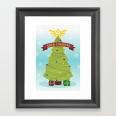 A Triforce Christmas Framed Art Print