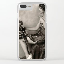 Naughty Dolly Clear iPhone Case