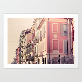 Houses of Milan, Italy Art Print