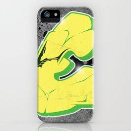 E - Graffiti letter iPhone Case