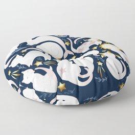 Zodiac cats Floor Pillow