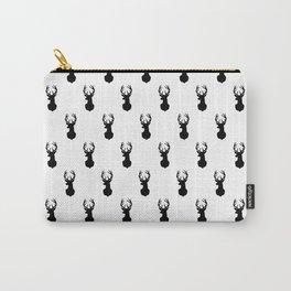 Deer, Minimal, Scandinavian, Abstract, Pattern, Modern art Carry-All Pouch