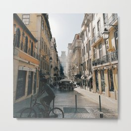 cicling in lisbon Metal Print