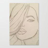 jojo Canvas Prints featuring JoJo by Art By JuJu