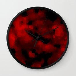 Black red polygonal background Wall Clock