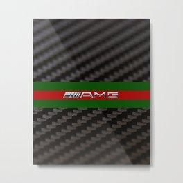 Carbon logo AMG Metal Print