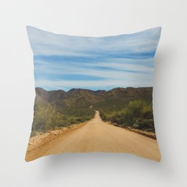 Lonely Road - Apache Trail, Arizona Throw Pillow