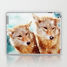 Wolf Couple Laptop & iPad Skin