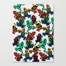 TOXIC FROGS PATTERN Canvas Print