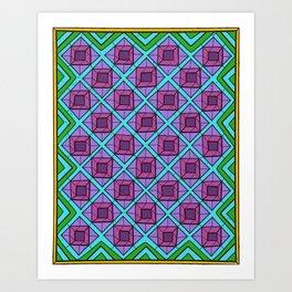 Squares in Diamonds Art Print