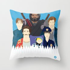 Finding Junior (Faces & Movies) Throw Pillow