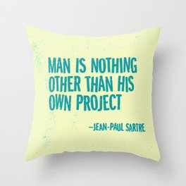 Man's Own Project Throw Pillow