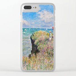 Claude Monet - Cliff Walk At Pourville Clear iPhone Case
