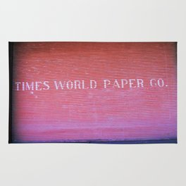 Times World Paper Rug