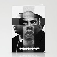 jay z Stationery Cards featuring Jay-Z (PICASSO BABY) by Alvarez Designs by: Mike Alvarez
