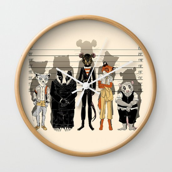 Unusual Suspects Wall Clock