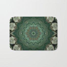 The Green Unsharp Mandala 3 Bath Mat