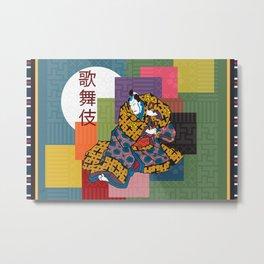 Kabuki Metal Print