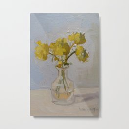 Yellow Flower Painting Metal Print