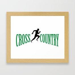Cross country Framed Art Print