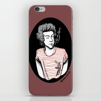 smoking iPhone & iPod Skins featuring Smoking by LePomiere