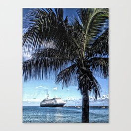 Cruise ship, Frederiksted Pier, St. Croix, U.S. Virgin Islands 2013 Canvas Print