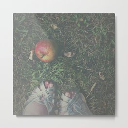 Don't Eat the Apple Metal Print