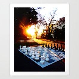 Chess at Dawn Art Print