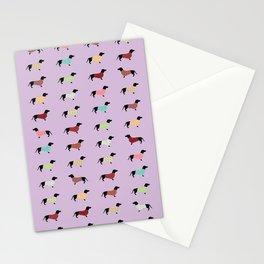 Dachshund - Purple Sweaters #251 Stationery Cards
