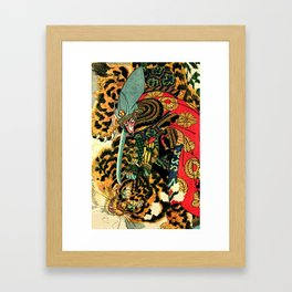 Tiger Hunt Framed Art Print