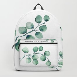 Grow wherever you are planted watercolor florals Backpack